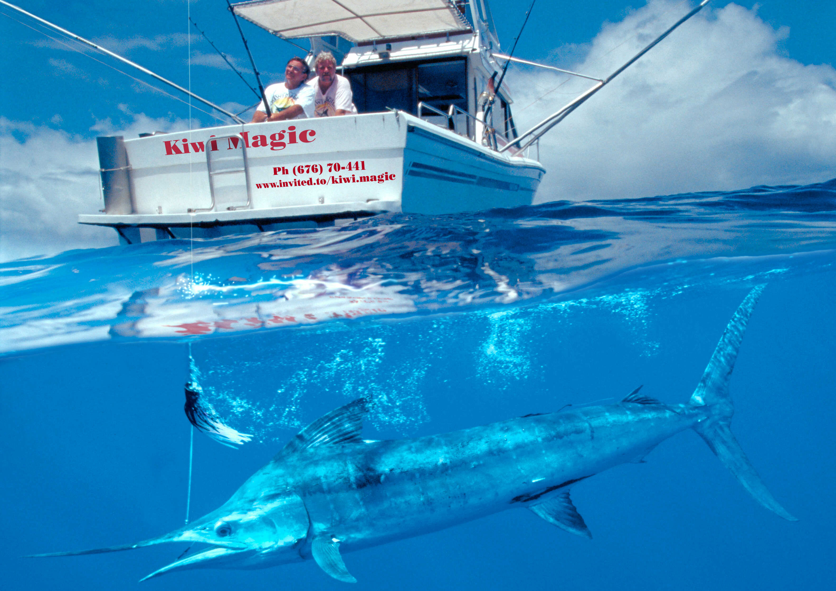 Sportfishing in Vava'u- Kingdom of Tonga on board KIWI MAGIC